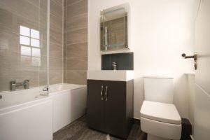 Driehoek badkamer